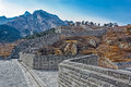 Nine arch bridge on great china wall and at water gates section of the known as the over water jiumenkou Royalty Free Stock Photo