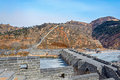 Nine arch bridge on great china wall and at water gates section of the known as the over water jiumenkou Stock Images