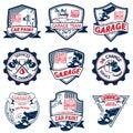 Nine auto repair logo color
