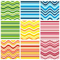 Nine background with stripe Stock Image