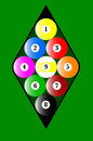 Nine Ball Rack Royalty Free Stock Photo