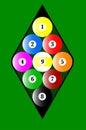 Nine Ball Rack Royalty Free Stock Photo