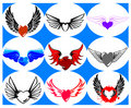 Nine Brand New Hearts on the Wings. Stock Image