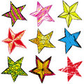 Nine christmas star ,  Royalty Free Stock Images
