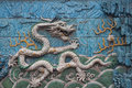 Nine dragon wall forbidden city in beijing eastphoto tukuchina still life Stock Photography