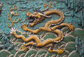 Nine dragon wall forbidden city in beijing still life Stock Photos