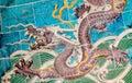 Nine dragon wall jiulongbi at beihai park beijing china sculpture the the was built in ce Stock Photography