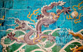 Nine dragon wall jiulongbi at beihai park beijing china sculpture the the was built in ce Royalty Free Stock Images