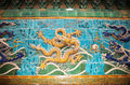 Nine dragon wall jiulongbi at beihai park beijing china sculpture the the was built in ce Stock Photo