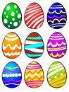 Nine Easter Eggs Royalty Free Stock Image