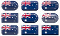 Nine glass buttons of the Flag of Australia Stock Photo