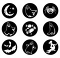 Nine Halloween symbols Stock Photography