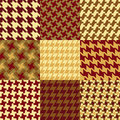 Nine Houndstooth Patterns Royalty Free Stock Photo
