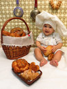 Nine-month-old boy - cook Royalty Free Stock Photo
