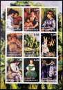 Nine paintings by Auguste Renoir Royalty Free Stock Photography