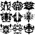 Nine Rorschach Test Royalty Free Stock Image