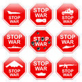 Nine signs stop war. Royalty Free Stock Photo