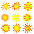 Nine Suns Royalty Free Stock Image