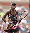 Nine times grand slam champion venus williams during her first round match at us open flushing ny august against kirsten flipkens Stock Images
