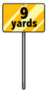 Nine yards sign of a whole Royalty Free Stock Image
