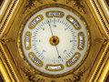 Nineteenth century golden barometer Stock Images