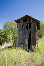 Nineteenth Century Outhouse in Lincoln, New Mexico Royalty Free Stock Photo
