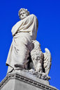 Nineteenth century sculpture of dante alighieri in florence ita located piazza santa croce italy Stock Image