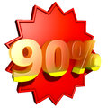 Ninety percent Stock Photos