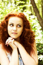 Ninfa Red-headed Imagem de Stock