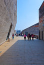 Ningbo museum of Pritzker architecture prize Royalty Free Stock Images