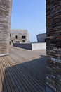 Ningbo museum of Pritzker architecture prize Royalty Free Stock Image