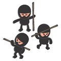 Ninja cartoon set character graphic design illustration Royalty Free Stock Image