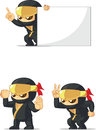 Ninja customizable mascot Image libre de droits