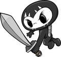 Ninja czaszki Zdjęcie Stock
