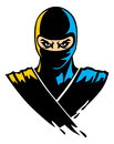 Ninja mascot in paint effect vector of Royalty Free Stock Images