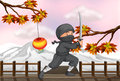 A ninja with a sword illustration of Royalty Free Stock Photos