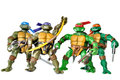Ninja turtles toy on white background Royalty Free Stock Photography