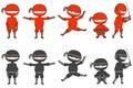 Ninjas Royalty Free Stock Photo