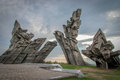 Ninth forth kaunas lithuania memorial monument was designed by sculptor a ambraziunas erected in the monument is m high Stock Photography
