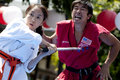 Nisei Week Martial Arts Demo Stock Photography
