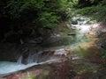 Nishizawa谷在山梨,日本 库存照片