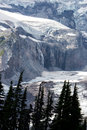 Nisqually Glacier and Waterfalls Royalty Free Stock Photo