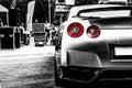 Nissan gtr on car show in wroclaw Stock Photos