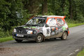 Nissan Micra Rallye Car Royalty Free Stock Photography