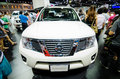 Nissan navara and in thailand motor show front of april at impact arena muang thong thani Stock Photography