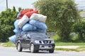 Nissan Navara truck Transport Plastic Bottles