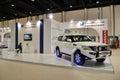 Nissan Patrol at Abu Dhabi International Hunting a Royalty Free Stock Photo