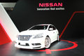 Nissan slyphy on display at bangkok international auto salon white Stock Photography