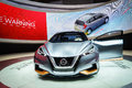 Nissan sway motor show geneve worls premiere of the at the th international geneva in palexpo switzerland photo taken on march th Stock Photos