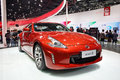 Nissan z a red sports car in auto show guangzhou Royalty Free Stock Photography